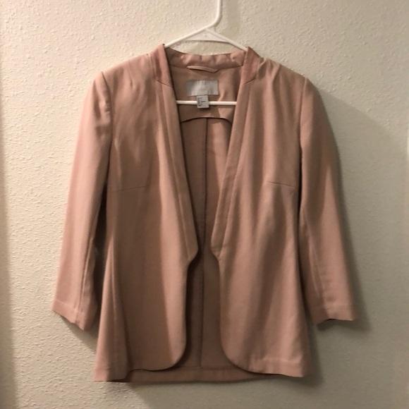 H&M unlined nude blazer